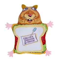 "Grilled Hamster and Cheese Cat Toy - 4.5"" Fluffy's Snack Bar Cat Toys"