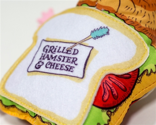 Grilled Hamster and Cheese Cat Toys - Fluffy's Snack Bar