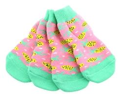 Non-Skid Dog Socks - Pineapple