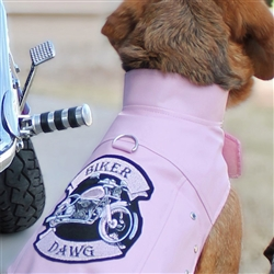 Biker Dawg Motorcycle Jacket - Pink