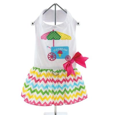Ice Cream Cart Dress w/ Leash & D-Ring