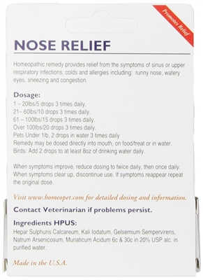 HomeoPet Nose Relief for Dogs and Cats