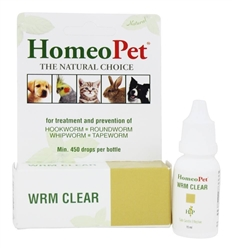 HomeoPet Wrm Clear Dogs and Cats