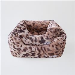 Animal Print Luxe Dog Bed: King Leopard