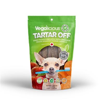 Vegalicious™ Dental Sticks Sweet Potato and Apple with Cinnamon (3.5oz/100g)