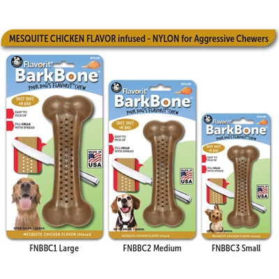 MESQUITE CHICKEN Small Flavorit BarkBone Nylon Chews
