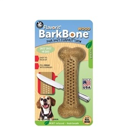 MINT Medium Flavorit BarkBone Nylon Chews with Real Wood