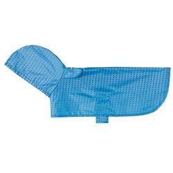Packable Rain Poncho - Cyan Halftone