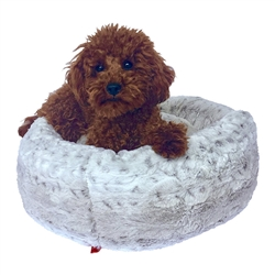 Frosted Snow Leopard Crispy Crème Donut Bed
