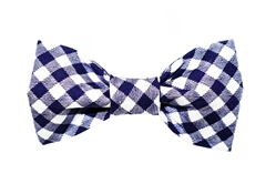 Bow Tie - Blue Gingham