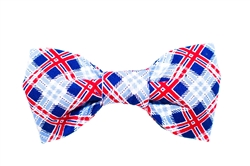 Bow Tie - Red/White/Blue Plaid