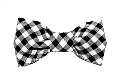 Bow Tie - Black/White Gingham