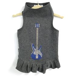 Studded Blue Guitar Flounce Dress