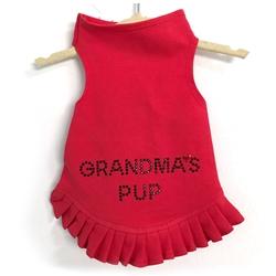Grandma's Pup Studs Flounce Dress