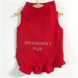 Grandpa's Pup Studs Flounce Dress