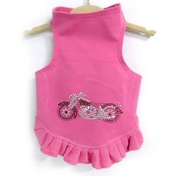 Studded Motorcycle Flounce Dress