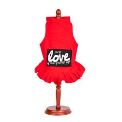 My Love Is The Greatest Gift Valentine Flounce Dress