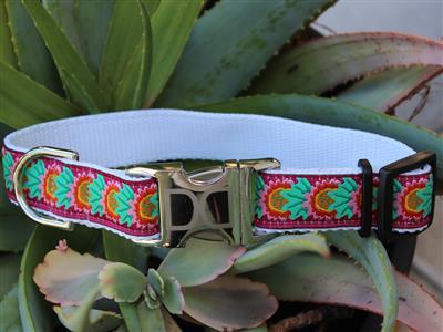Nantucket Summer Dog Collar - All Metal Buckles