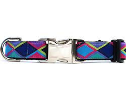 Tanzania Dark Dog Collar Silver Metal Buckles