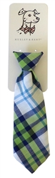 Huxley & Kent Lime Madras Long Tie