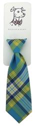 Huxley & Kent Turquoise Madras Long Tie