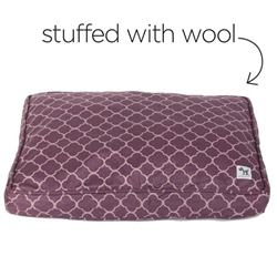 royals sheepy wool-filled bed
