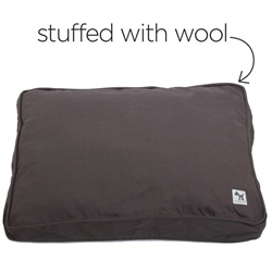 i'm a realist sheepy wool-filled bed