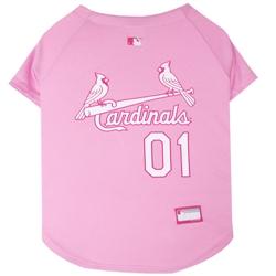 St Louis Cardinals Dog Jersey  - PINK
