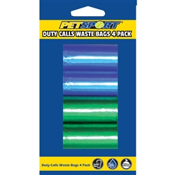 """Duty Calls"" waste bag 4-pack Refill - Assorted Colors"