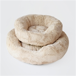 Amour Dog Bed: Sand
