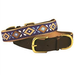 Aztec Blue American Traditions Collection Collars & Leashes