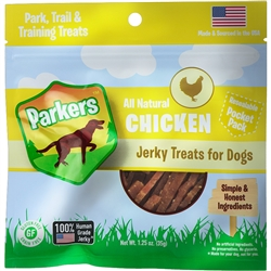 Parkers Chicken Jerky Pocket Pack (1.25oz)