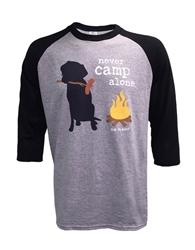 Never Camp Alone Raglan Unisex Fit