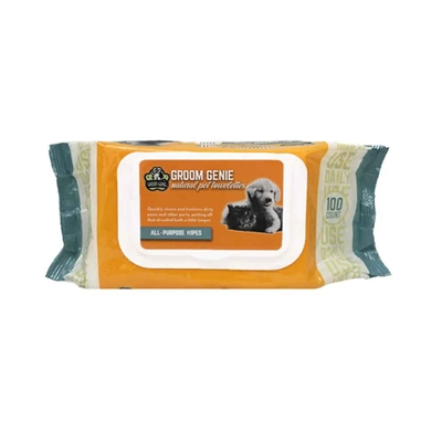 Groom Genie All-Purpose Wipes - 100 pc.Soft-Pack w/ Lid