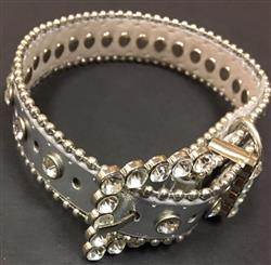 Bling Dog Collar - SILVER METALLIC