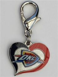 Oklahoma City Thunder NBA Dog Collar Charm