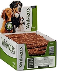 Whimzees Veggie Sausage Dental Dog Treats in POP Display Box