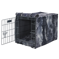 Luxury Crate Cover Nightfall Microvelvet (Ash trim)