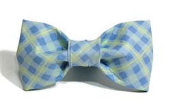 Bow Tie - Light Blue/Pale Yellow Plaid