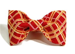 Bow Tie - Red/Gold/Pink Plaid