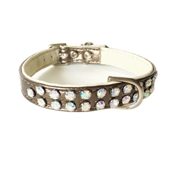 Charlotte Double Row Vegan Collar_GOLD with AB crystals