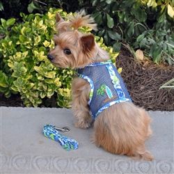 Surfboard Blue and Green Cool Mesh Harness w/ Leash & D-Ring