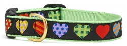 Colorful Hearts Leashes and Collars by Up Country