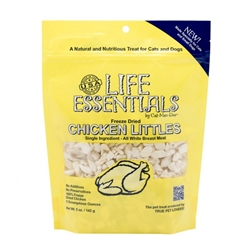 5oz. pouches of Life Essentials Freeze Dried Chicken Littles