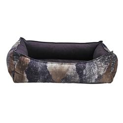 Oslo Ortho Bed Sonoma Microvelvet (Aubergine Inner)