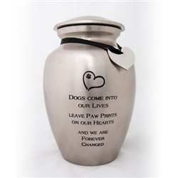 Dogs Come Into Our Lives Urn - ON SALE!!!