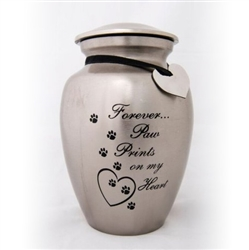 Forever Paw prints on my Heart Urn - ON SALE!!