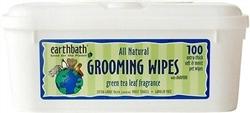 EARTH BATH GROOMING WIPES GREEN TEA 100 CT