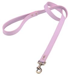 Light pink leather dog leash