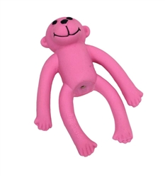 COASTAL LI'L PALS LATEX TOY MONKEY PINK 4IN